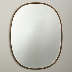 BuyJohn Lewis Oval Organic Brass Mirror, Gold Online at johnlewis.com