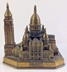 Vintage French Metal Souvenir Building Paris Sacre-Coeur Basilic Made in France