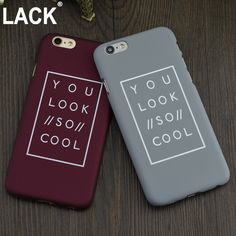 2016 Newest arrival Fashion Funda Letter Case Matte Hard Cover Capa Coque Funda For iPhone 6 6s 6 plus 5 5s Plastic phone Case-in Phone Bags & Cases from Phones & Telecommunications on Aliexpress.com | Alibaba Group