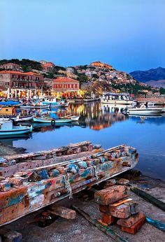 """""""The port of Molyvos town - Lesvos island"""" by Hercules Milas 