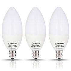 LOHAS Candelabra Bulb, 60 Watt LED Light Bulbs Equivalent... https://www.amazon.com/dp/B01F8OMHR6/ref=cm_sw_r_pi_dp_x_-pnTxbB48QXN9