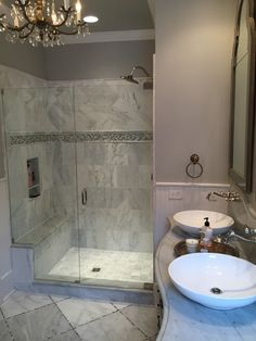 In This Bathroom, Marble Is Most Certainly The Staru2014and Walls In  Silverplate SW