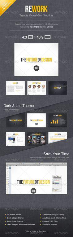 Rework Keynote Presentation Template - GraphicRiver Item for Sale