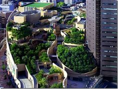 """""""With Japan's dense population and cities filled with towering buildings it is no wonder that they have put more thought into adding green space to their cityscapes."""""""