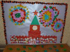 Коллективная работа ко Дню Победы «Праздничный салют над Красной площадью» Фото