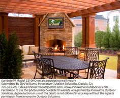 Outdoor TV/fireplace