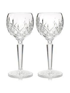 Waterford Pair of Lismore Hock Wine Glasses at MYHABIT