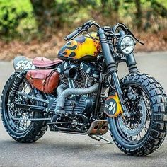 Cool sporty scrambler