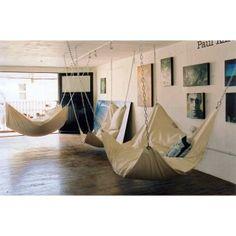 indoor bean bag hammocks - brilliant.