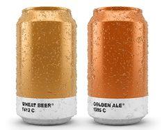 pantone beer can packaging design