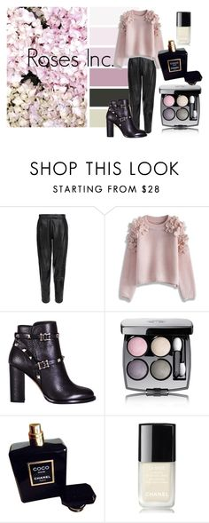 """""""#Roses"""" by slounis on Polyvore featuring moda, MuuBaa, Chicwish, Valentino, Chanel, women's clothing, women, female, woman i misses"""