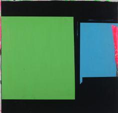 'Blue Green, Bow Street'  :  Paul Behnke   2013 Acrylic on canvas
