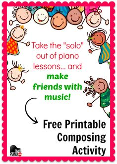 Free printable for a composing activity that will make connections within your studio | teachpianotoday.com #piano #pianoteaching #pianostudents #composing
