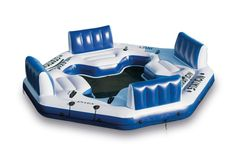 Giant 4 Person Inflatable Lake Raft Pool Float Ocean Floating Huge Water -Lounge