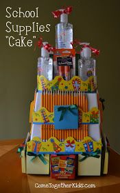 School Supplies Cake ~ awesome teacher gift idea