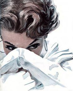 Mike Ludlow 1921-2010 | American Glamour Pin-up illustrator