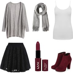 Matching lips and shoes by stylehue on Polyvore featuring polyvore, fashion, style, M&Co and NYX