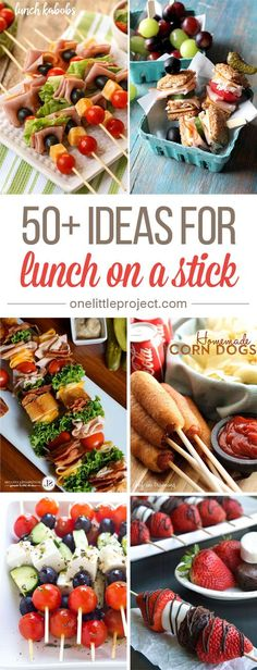 50+ Ideas for Lunch on a Stick Snacks Für Party, Lunch Snacks, Lunch Recipes, Healthy Snacks, Cooking Recipes, Healthy Recipes, Picnic Dessert Recipes, Potluck Food, Picnic Snacks