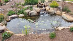 Tranquility Deluxe pond package by Living Waterscapes near Greensboro, NC.