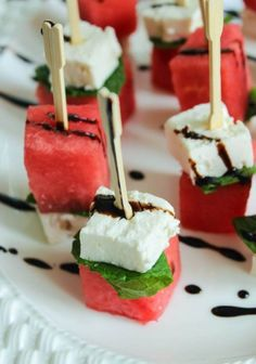 Magnificent Watermelon Feta Mint Skewers – This would be great with Calivinegar Barrel Aged Balsamic! The post Watermelon Feta Mint Skewers – This would be great with Calivinegar Barrel Aged Balsamic!… appeared first on 2019 Recipes . Skewer Appetizers, Wedding Appetizers, Appetisers, Yummy Appetizers, Cocktail Party Appetizers, Light Summer Appetizers, Beach Appetizers, Bridal Shower Appetizers, Summer Appetizer Recipes