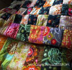 Norfolk Bricks lap quilt, © Stephanie Boon, 2015 www.DawnChorusStudio.com #patchwork #quilting