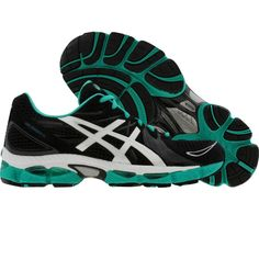 Asics Womens Gel-Nimbus 13 (black   white   green) T192N-9001 9eed9e23f2a