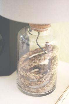 DIY Glass Filler Lamp - Modern Day Moms