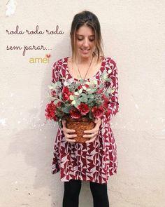 versão rodadinha❤️ @loja_amei  #vestido #lojaamei #lindo #rodado #muitoamor #flores #amores