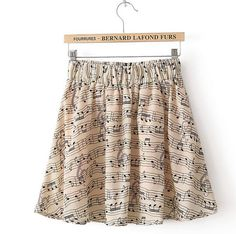 To find out about the Apricot Elastic Waist Note Print Chiffon Skirt at SHEIN, part of our latest Skirts ready to shop online today! Print Chiffon, Chiffon Skirt, Dress Skirt, Pretty Outfits, Cute Outfits, Cute Skirts, Visual Kei, Looks Cool, Fashion Outfits