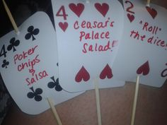 food marker's for a casino (well, spades) themed party!
