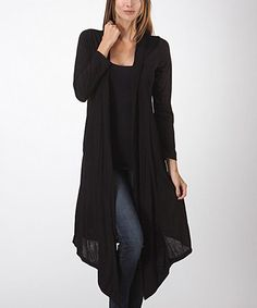 Another great find on #zulily! Black Open Duster #zulilyfinds