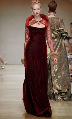 Red Velvet Couture Dress Inspirations - Inspiration by Color Moda Fashion, Couture Dresses, Beautiful Dresses, Pretty Dresses, Vintage Dresses, Ball Gowns, Modern, Glamour, Formal Dresses