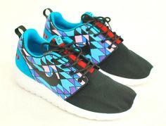 Custom Sneakers - Hand Painted Tribal pattern Nike Roshe One's - Custom Roshe Run