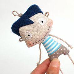 Sewing Stuffed Animals Ogárek co má rád moře / Zboží prodejce Leebee Fabric Toys, Fabric Crafts, Sewing Crafts, Tiny Dolls, Soft Dolls, Diy Cat Toys, Sewing Stuffed Animals, Sewing Projects For Kids, Sewing Dolls