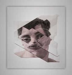 Aldo Tolino is an Austria based artist and philosopher. He creates images or sculptural artworks from photographs in Face Collage, Collage Portrait, Collage Art, Portrait Paintings, Surreal Artwork, Cool Artwork, Amazing Artwork, Distortion Art, Sculpture Art