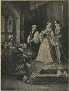 Lady Jane Grey being offered the crown