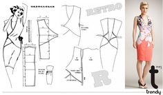 Inspiration for me to use when I'm exploring flat pattern drafting. - OUTBOX fashion@stuff: Fashionable