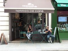 Façade Terres de Café - rue Rambuteau