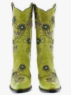 Womens cowboy boots - ladies gringo love butterfly flower rhinestone old lime snip