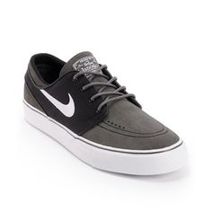 Take a walk in this pros shoes in the Nike Zoom Stefan Janoski skate shoe in the Midnight Fog/Black/White color way $77.95
