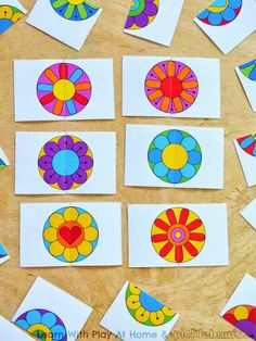 Learn with Play at home: Free Printable Flower Matching Game