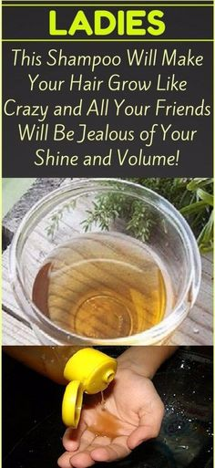 This Natural Shampoo Will Make Your Hair Grow Like Crazy! - Healthy Tips 180 Jealous Of You, Natural Shampoo, Natural Skin, Like Crazy, Homemade Face Masks, Hair Repair, Inevitable, Natural Cosmetics, Healthy Tips