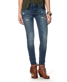 BlankNYC No Time for Dat Skinny Jeans in MEDIUM DENIM