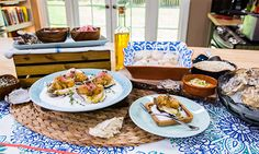 Home & Family - Recipes - Fried Oyster & Scallop Crudo, Yuzu Vinaigrette, Pickled Onions, Fried Capers | Hallmark Channel