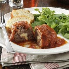Mini Cheese Meat Loaves Recipe from Taste of Home -- shared by Betty B. Claycomb of Alverton, Pennyslvania