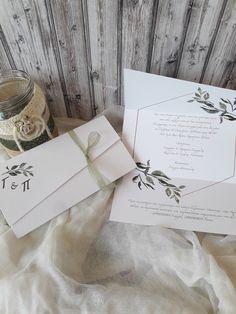 Προσκλητήριο γάμου με τρίπτυχο κλείσιμο και σχέδιο κλαδί ελιάς σε διαστάσεις 21×11 εκ. διπλωμένο και 29×21 ανοιχτό. Το χαρτί είναι ανάγλυφο constellation 280gr. Στο εσωτερικό του προσκλητηρίου μπορεί να γραφεί αν επιθυμείτε το κάλεσμα στο κέντρο δεξιώσεων.  #gamos #γάμος#γαμο#prosklitirio#προσκλητήριο#πρόσκληση#προσκλητηριογαμου#prosklitiriogamou#τρίπτυχο#prosklisi Place Cards, Place Card Holders