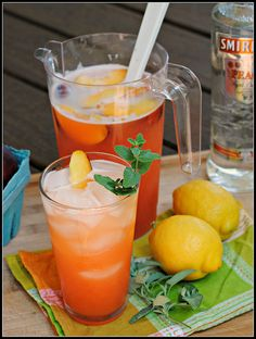 Peach Lemonade - I like the idea of leaving the vodka out so people can choose how much (or little) alcohol they want in their drink