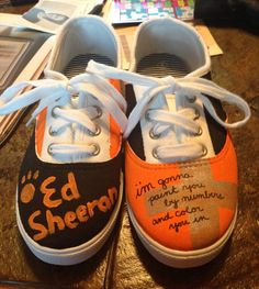 Customizable Ed Sheeran Shoes by kayleyhayscreations on Etsy, $20.00
