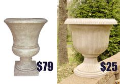 Thrifty DIY knockoff planter - Living Rich on Less