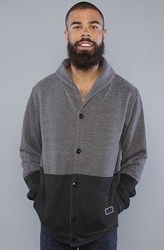 Freshjive The Double Beaufort Cardigan in Charcoal Grey in Gray for Men (charcoal)